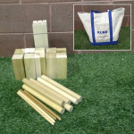 Kubb game with bag